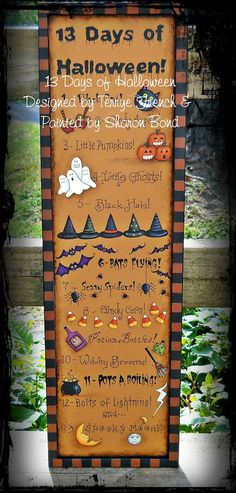Painting With Friends E Pattern - 13 Days of Halloween - Painted by Sharon Bond