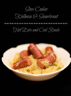 100% Minnesota comfort food. Such an easy slow cooker recipe that any sauerkraut fan would love! Slow Cooker Kielbasa and Sauerkraut from Hot Eats and Cool Reads