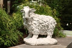 FS8712 Flower Show, Sheep, Garden Sculpture, Chicago, Navy, Outdoor Decor, Flowers, Home Decor, Hale Navy