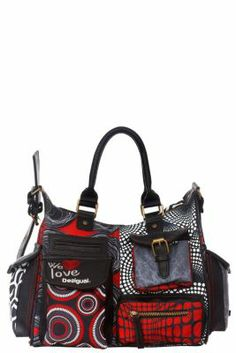 Desigual Women's London Duobolas bag. Our now legendary London style bag, medium size, measures: 32x25x15 cm. / 12.5