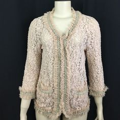 I just discovered this while shopping on Poshmark: BKE Boutique L Blush Lace Top Jacket Cardigan. Check it out!  Size: L, listed by remylovesrose
