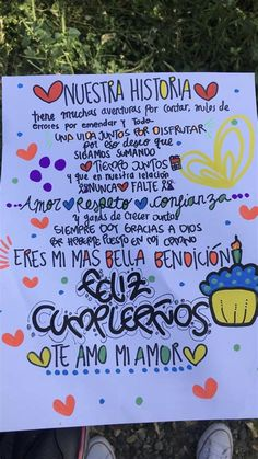 Sweet Quotes For Boyfriend, Diy Gifts For Boyfriend, Birthday Card Drawing, Birthday Cards, Happy Birthday, Organisation Hacks, Tumblr Stickers, Love Phrases, Cute Diys