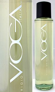 Voga Italia Pinot Grigio - Love love love the bottle.