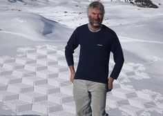 This guy's snow art is amazing.  He makes these designs using snowshoes!  Some of them really look like quilts.