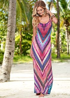 %PC% Vibrant printed maxi dress from VENUS