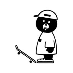 """300 次赞、 5 条评论 - Seiji Matsumoto / 松本セイジ (@seijimatsumoto_arts) 在 Instagram 发布:""""Skate Bear #bear #animal #skateboard #skate #character #fashion #seijimatsumoto #松本セイジ #art…"""" Mascot Design, Badge Design, Skateboard Design, Skateboard Art, Line Illustration, Character Illustration, Blue Rider, Graffiti Doodles, Doodle Paint"""