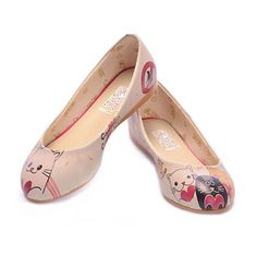 Printed colorful women ballerinas Inner material textile Outside material first class leatherette Insole material leather and memory foam Sole material thermoplastic Heel 1 cm Ballerina Shoes, Ballet Flats, Artificial Leather, Cute Cats, Soft Leather, Memory Foam, Fashion Shoes, Ballerinas, High Heels