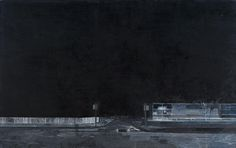 Hurvin Anderson Untitled (Black Street) 2000 Oil on canvas 150 x 239 cm