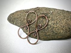 A personal favorite from my Etsy shop https://www.etsy.com/listing/522326892/copper-wire-infinity-earrings