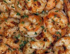 Ruth's Chris New Orleans-Style BBQ Shrimp Recipe - This shrimp is out of this world! Ruth's Chris New Orleans-Style BBQ Shrimp is the perfect recipe for any cookout or Summer celebration! Fish Recipes, Seafood Recipes, Cooking Recipes, Healthy Recipes, Recipies, Brunch Recipes With Shrimp, Copycat Recipes, Italian Shrimp Recipes, Tilapia Recipes