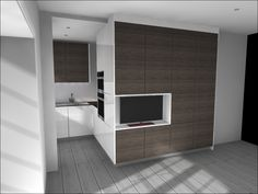 Compact Handleless Kitchen Design For London Apartment