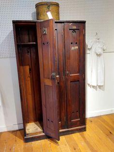 Three-Door Golf Locker For Sale at Wooden Lockers, Vintage Lockers, Locker Furniture, Lockers For Sale, Metal Trough, Old Fashioned House, Door Locker, Locker Ideas, Old Farm Houses