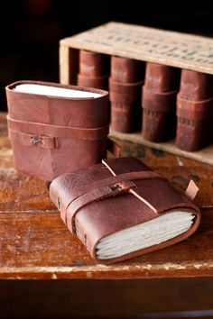 LOVE these leather hand bound journals!