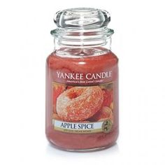 Apple Spice : Yankee Candle Lovely new fall scent - apple, cinnamon and cloves.