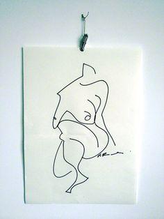 ::: Life drawing / gesture drawing :::  60 sec drawing Paul Richards
