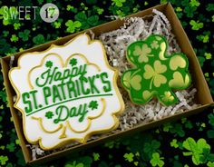 St. Patrick's Day Sugar Cookies Box Set by Sweet17Cookies on Etsy