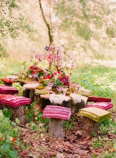 Great idea for a fairy garden too