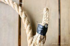 Crazy Wonderful: patio curtains + DIY rope tieback