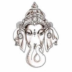Ganesha Elefant Elephant No Schal Design Tattoo Ganesh Tattoo, Ganesha Art, Lord Ganesha, Hindu Tattoos, Ganesha Drawing, Jai Ganesh, Trendy Tattoos, Small Tattoos, Girl Tattoos