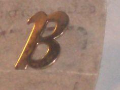 Vintage 14KT GOLD FILLED tie tac Monogram B, Pendant  Brooch