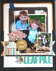 Layout: HIP KIT CLUB - October 2012 Kit - Leaf Pile Layout