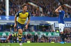 Firepower: Giroud scored Arsenal's equaliser in the 2-2 draw with Everton on Saturday...