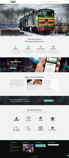 Quest - All Purpose Wordpress Theme by Zizaza - design ocean , via Behance.