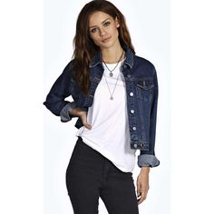 Boohoo Blue Kate Eyelet Denim Jacket ($35) ❤ liked on Polyvore featuring outerwear, jackets, blue, eyelet jacket, duster coat, quilted bomber jacket, denim bomber jacket and blue quilted jacket