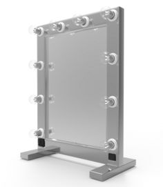 The popular TM-100 Tabletop mirror now in stainless steel. Beautiful, real stainless steel, very durable. Available in a brushed and polished version.