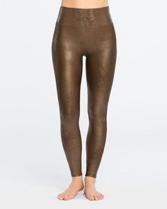 Spanx Faux Leather Legging Bronze