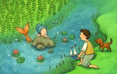 River Mermaid - Children's Illustration by Emma Allen