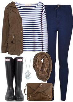 The only way I would wear hunter boots Outfits rainy day christmas gifts Rainy Outfit, Outfit Of The Day, Casual Outfits, Cute Outfits, Fashion Outfits, Womens Fashion, Ootd Fashion, Fashion Tips, Fall Winter Outfits