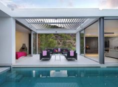 Zephyros Villa in Pomos, Cyprus with Awesome Indoor Swimming Pool Design - Home Design and Home Interior Villa Design, Terrace Design, House Design, Terrace Ideas, Renzo Piano, Indoor Swimming Pools, Swimming Pool Designs, Villas, Outdoor Rooms