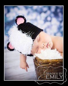 Skunk Hat fits babies to children   www.etsy.com/shop/twirlygurlz