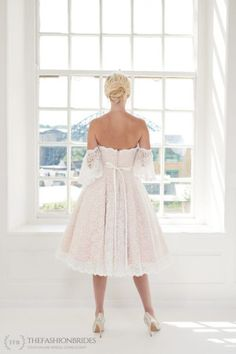 House of Mooshki 2020 Spring Bridal Collection – The FashionBrides Short Wedding Gowns, Wedding Dress Types, Lace Wedding Dress With Sleeves, Tea Length Wedding Dress, Wedding Dresses For Sale, Colored Wedding Dresses, Dresses With Sleeves, Dress Lace, Ball Dresses