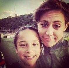 Meghan Klingenberg and young fan. (Instagram)