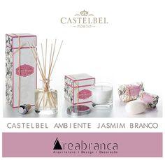 """Castelbel AMBIENTE JASMIM - Uma das plantas mais apreciadas pelos perfumistas, o jasmim branco possui um aroma distinto, doce, delicado e requintado.  """"Castelbel WHITE JASMINE - One of the most appreciated plants by perfumers, white jasmine has a distinct, sweet, delicate and exquisite scent."""""""