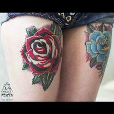 #tattoo #ink #ksuarrow #rtats #roses #rose #hips