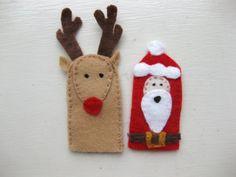 santa & rudolph finger puppets
