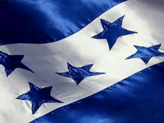 Honduras flag!  The stars represent the members of the former Federal Republic of Central America   Colors:White - peace and honesty   Blue - the sea and the sky
