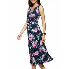 12.39$  Buy here - http://di4rj.justgood.pw/go.php?t=187086303 - Bohemian Sleeveless V Neck Floral Print Maxi Dress 12.39$