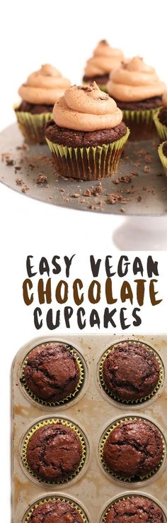 These fool-proof vegan chocolate cupcakes are incredibly delicious and super simple to make for the perfect celebration dessert.
