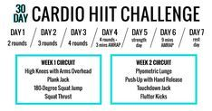 This Circuit-Style Challenge Is a Nonstop Cardio Blast 30 Days Of Hiit, Style Challenge, Workout Programs, Circuit, Cardio, Online Exercise, Challenges, Fitness, Shape