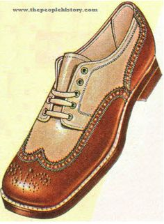 Men's casual two toned shoes with laces became very popular during this period