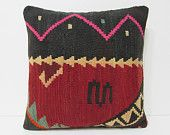 """Turkish cushion 18"""" sofa throw pillow kilim pillow cover decorative pillow case couch outdoor floor bohemian boho ethnic rustic accent 21780"""