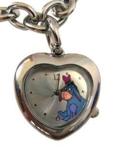 Eeyore Heart Shaped Pennant Bracelet Watch Winnie The Pooh Watch