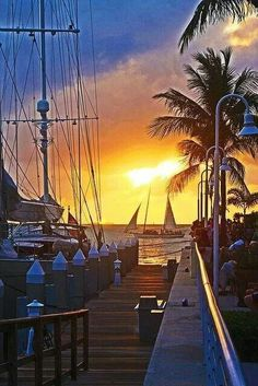 Red Velvet Voyage Sailing the earths waters Inspirations and voyage dreams. Sail boats in the blue oceans, cloud filled skies, the beauty of planet earth!Key West sunset