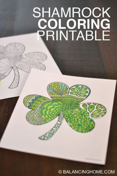 Shamrock Coloring Printable – Balancing Home Shamrock coloring printable. Perfect for St. Love it for adults or the classroom. Such an easy kid craft. Saint Patricks Day Art, St Patricks Day Crafts For Kids, St. Patricks Day, Easy Crafts For Kids, March Crafts, St Patrick's Day Crafts, Holiday Crafts, Holiday Fun, Arts And Crafts
