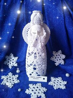 Angel Crochet Christmas tree decor gift for family New Year Crochet Christmas Decorations, Crochet Christmas Trees, Christmas Tree Ornaments, New Year Gifts, Gifts For Family, Christmas Mantels, Christmas Holidays, Winter Table, Religious Gifts