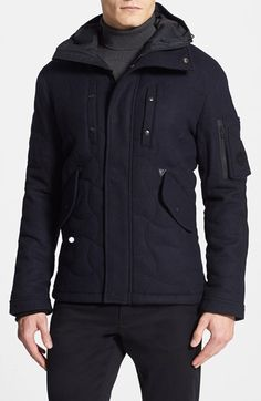Free shipping and returns on Spiewak 'Tarmak' Quilted Wool Blend Parka at Nordstrom.com. A quilted finish along with a contrasting canvas hood and sleeve patches update a clean-cut parka inspired by 1950s aviator style.